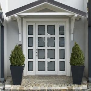 Porte vitrée verre décoratif Internorm