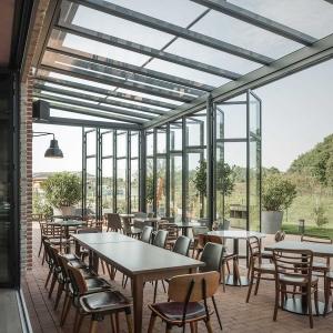 Toit de terrasse restaurant Solarlux